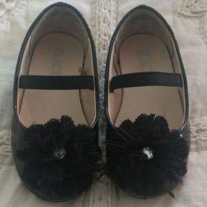 CHILDREN'S PLACE TODDLER GIRLS BLACK DRESS SHOES 7